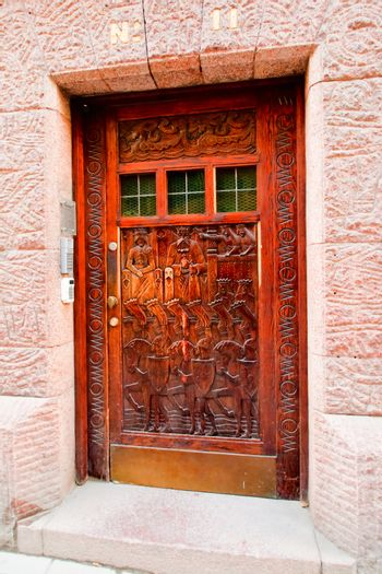The door to the house number 11