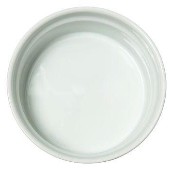White Ceramic Baking Dish over White