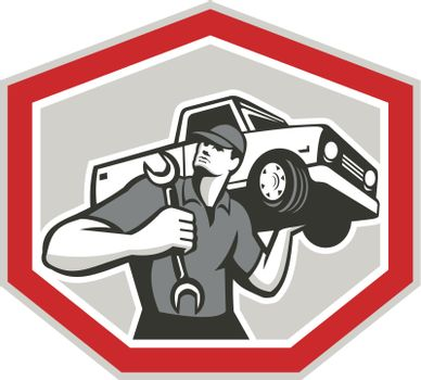 Automotive Mechanic Carrying Pick-Up Truck