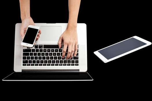 Brand new smartphone, laptop and tablet pc