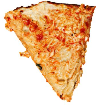 Ate Topping Only, Scraped Pizza Crust Over White