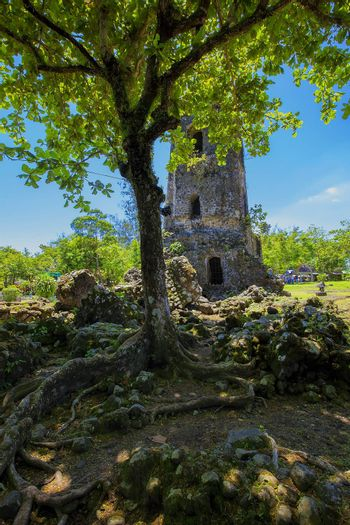 Cagsawa church ruins. Destroyed in 1814 by Mayon volcano.