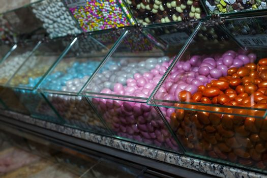 Sweet Candies in Candy Shop