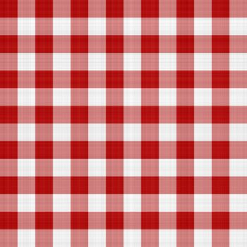 Red and white picnic table cloth pattern illustration that tiles seamlessly as a pattern.