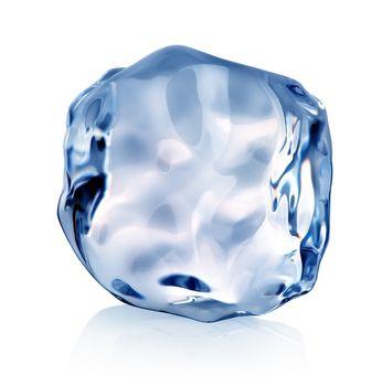 Blue piece of ice