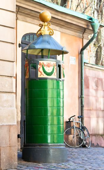 The first public toilet in Stockholm