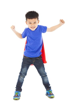 angry superhero kid hero ready fighting pose