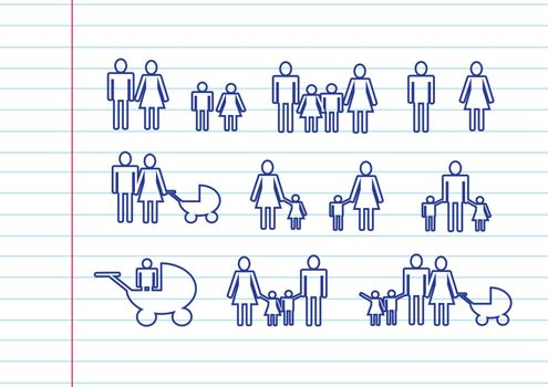 People Family icon Pictogram People