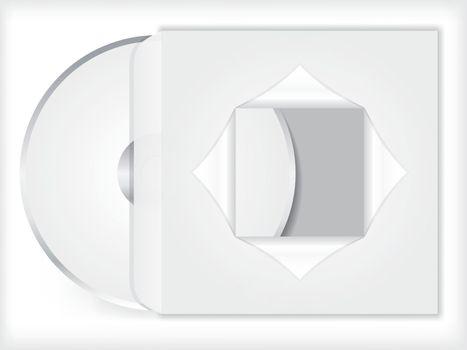 Blank cd/dvd with sleeve