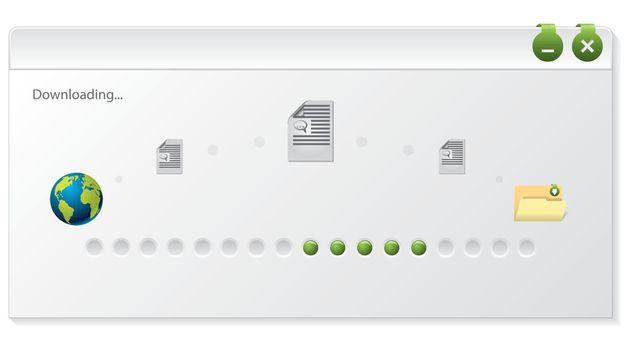 File download progress indicator window design