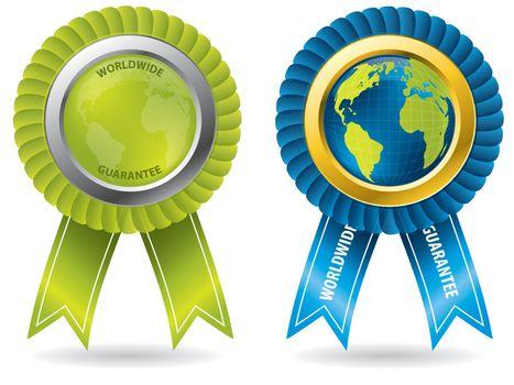 Worldwide guarantee badges