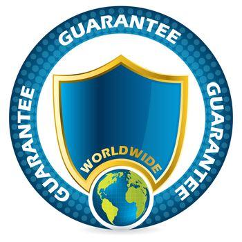 Worldwide guarantee icon design