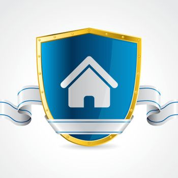 Home protection illustrated with shield