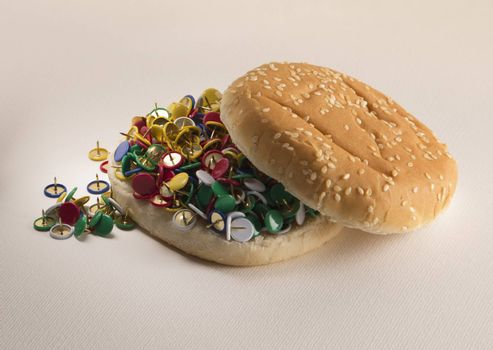 Fast food bread and pins