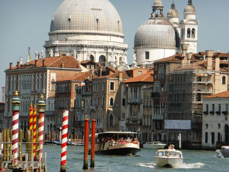 Venice, Italy ��� July, 20: the Festival of the Redeemer in Venice on July 20, 2013. Since 1577, this thanksgiving to Jesus Christ for the end of the Plague is the Venetians��� favourite event. The fireworks show is considered the best in Europe