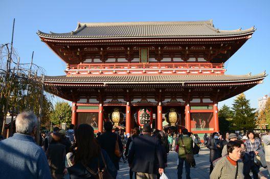 TOKYO, JAPAN - NOV 21: The Buddhist Temple Senso-ji