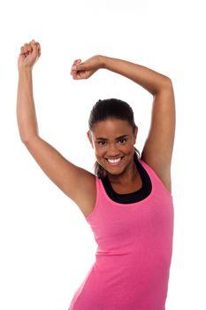 Women dancing energetic in gym
