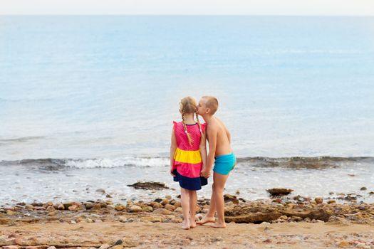 little children on the beach