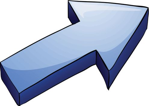 illustration of an arrow on a white background