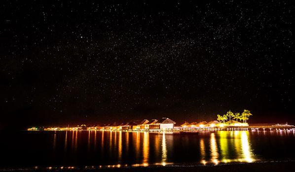 Night on tropical resort