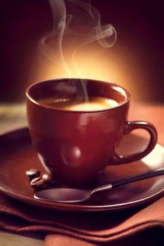 Coffee. Cup of Coffee closeup. Espresso