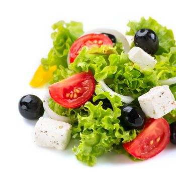Mediterranean Salad. Greek Salad isolated on a White Background