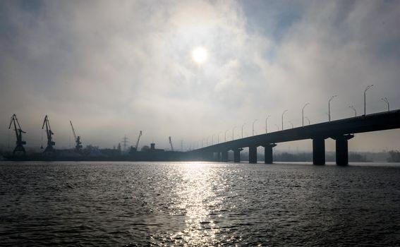 Bridge in a fog