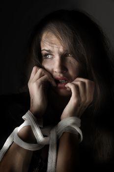 woman in fear