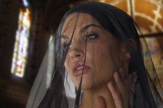 widow in church