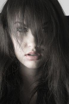 brunette desaturated