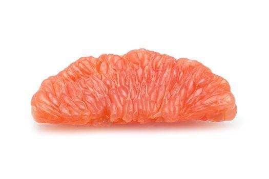 halves grapefruit isolated on a white background