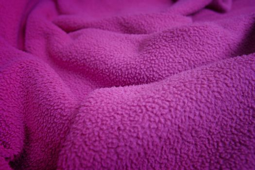 Background of a pink blanket