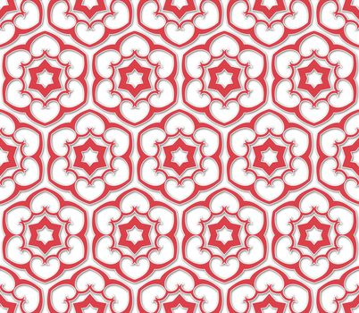 six pointed flowered pattern