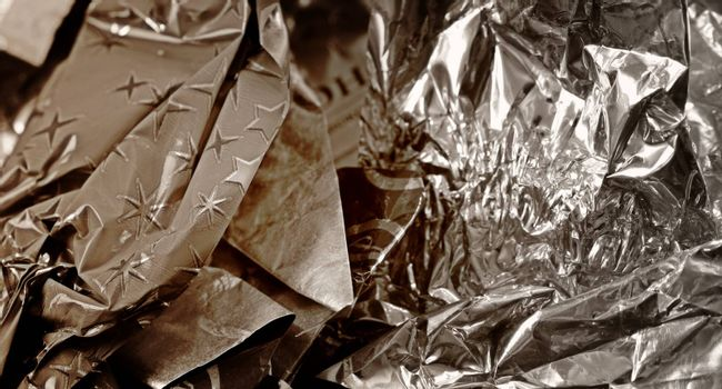 Close-up picture of candy wrapper