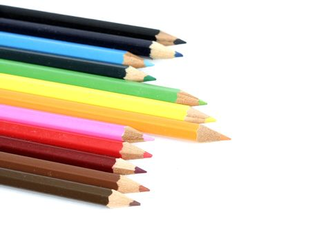 color pencils isolated. More on my portfolio.