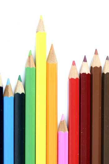 Close-up picture of color pencils.