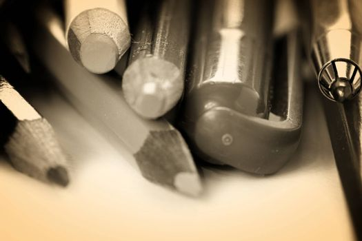 Close-up picture of color pencil.