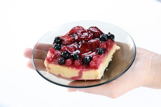 Tasty low calorie fruit tart