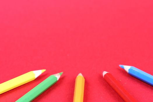 Close-up picture of sharp pencils.