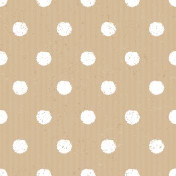 Seamless Cardboard Paper Polka Dots Background