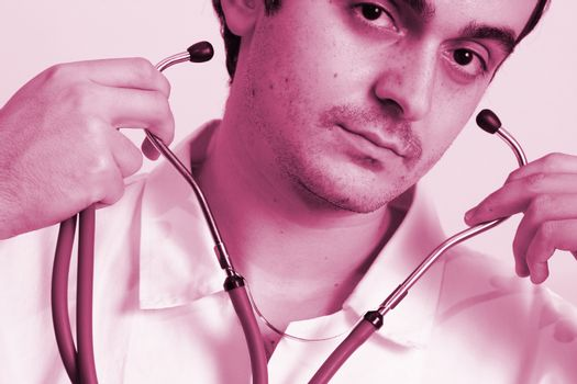 Portrait of a young doctor with stethoscope. More of this series on my portfolio !