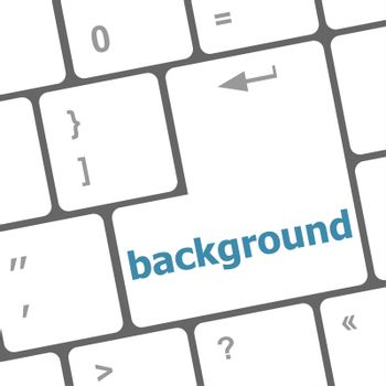 background word on computer keyboard key button
