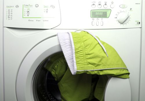 Trousers and laundry.