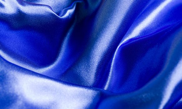 Background of a blue blanket