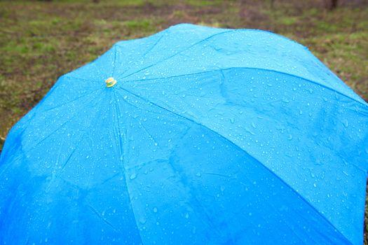 background with rainy umbrella