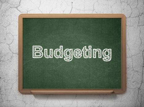Finance concept: Budgeting on chalkboard background