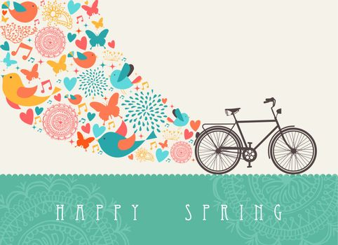 Springtime bicycle concept