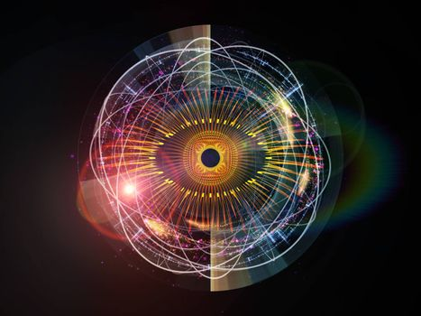 Eye Particle series. Interplay of eye shape and fractal elements on the subject of spirituality, art and  technology
