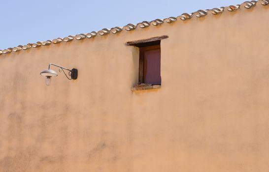 Wall, Window and Lamp