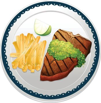 illustration of a food on a blue background